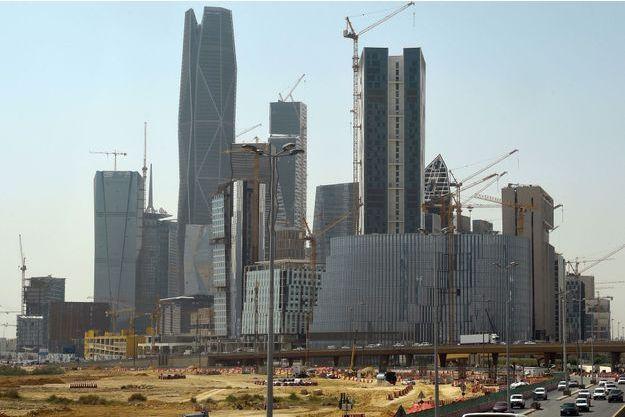 Des immeubles construits par la société Saudi Oger, dans le centre d'affaires de Ryad.