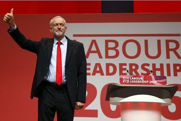 Jeremy Corbyn après sa victoire samedi, à Liverpool.