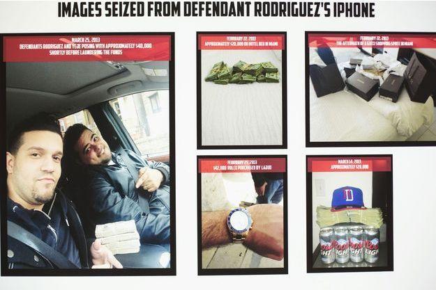 Elvis Rafael Rodriguez et Emir Yasser Yeje, tous les deux membres de la cellule américaine. Les photos qui proviennent du téléphone du premier ont été diffusées par les autorités.