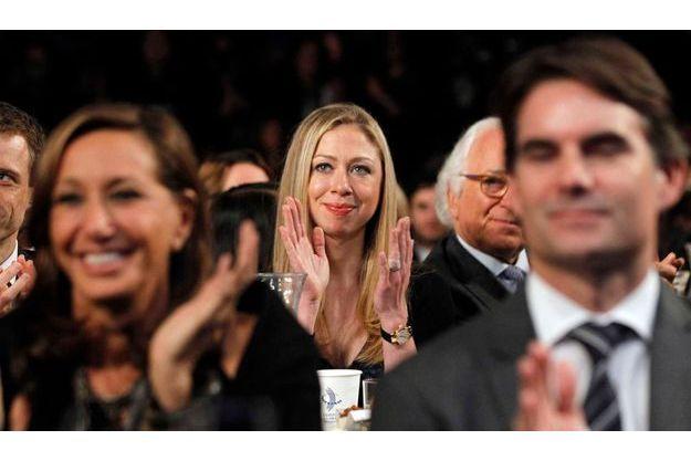 Chelsea Clinton écoutant Barack Obama au rendez-vous annuel de la Clinton Global Initiative, l'an dernier.