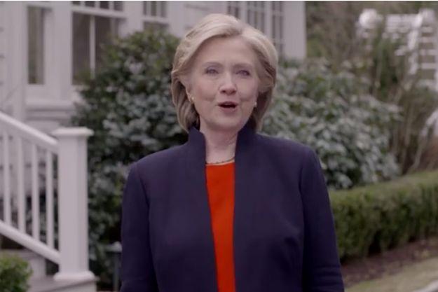 Hillary Clinton dans son clip de campagne.