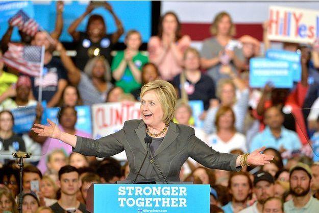 Hillary Clinton le 22 juin 2016 en Caroline du nord.