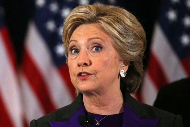 Hillary Clinton lors de son discours après les résultats de l'élection, mercredi.