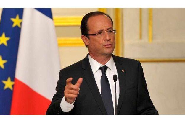 François Hollande a fait cette annonce depuis l'Elysée où il recevait le président du Bénin, Yayi Boni.