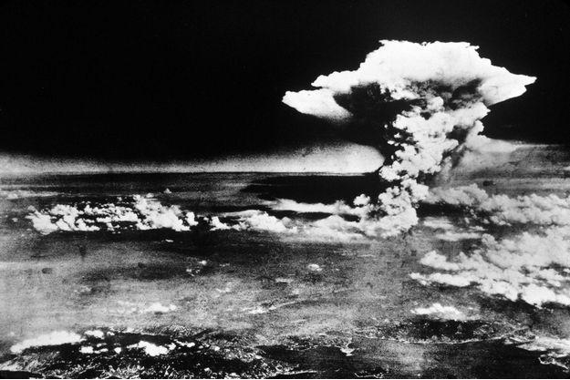 Une photo prise le 6 août 1945 au large du Japon