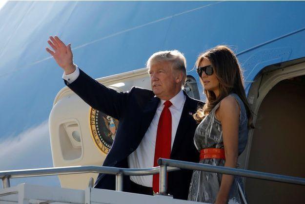 Donald et Melania Trump la semaine dernière à Hambourg.