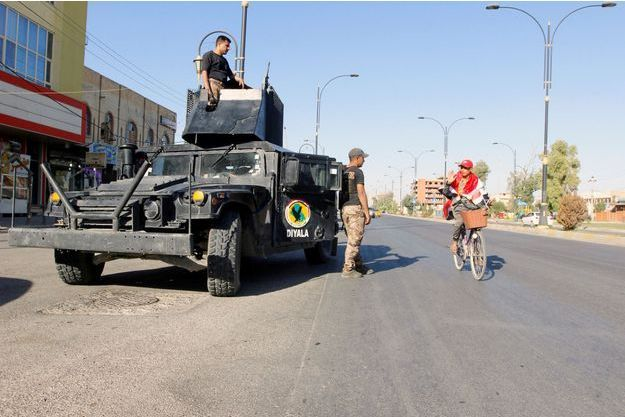 Des soldats irakiens à Kirkouk, le 19 octobre 2017.