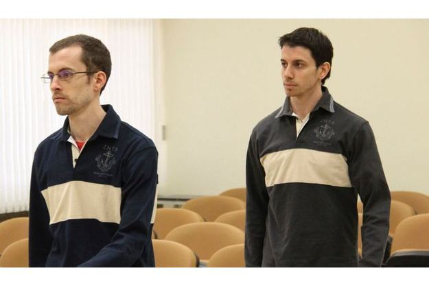Les deux rndonneurs américains Shane Bauer et Josh Fattal