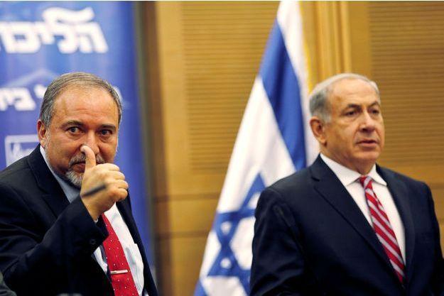 Avigdor Lieberman et Benjamin Netanyahou.