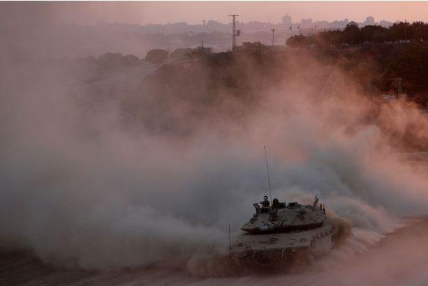 Un char israélien, photographié le 3 août.