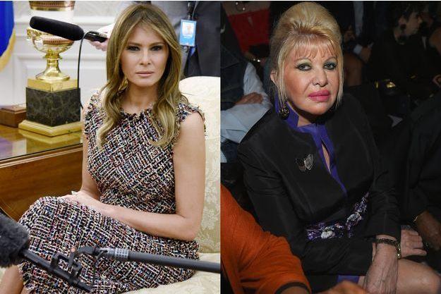 Melania Trump et Ivana Trump.