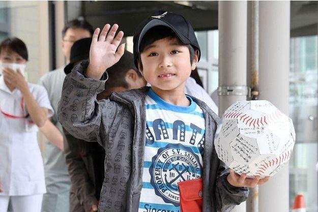 Le petit Yamato à sa sortie de l'hôpital.