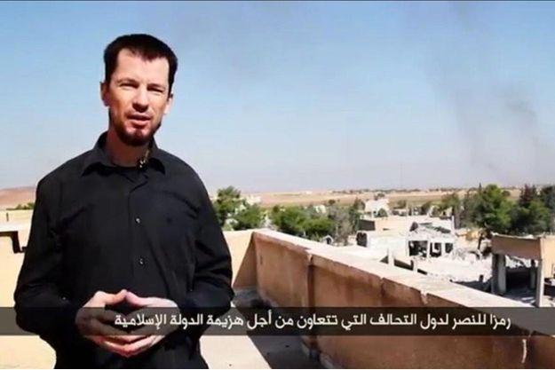 John Cantlie dans la vidéo de propagande diffusée par Daech lundi.