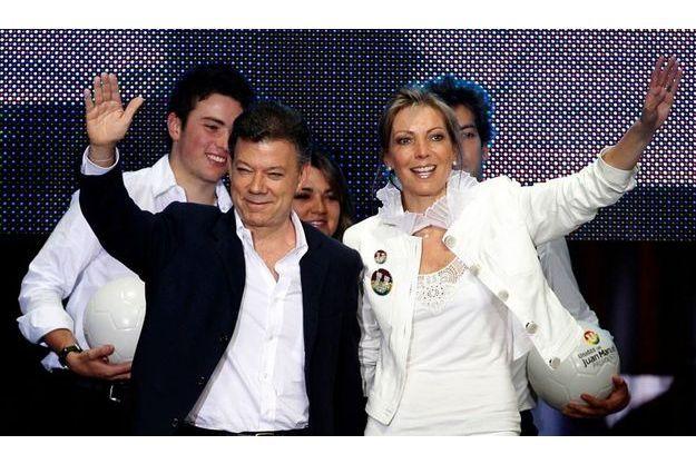 Juan Manuel Santos et sa femme Maria Clemencia.