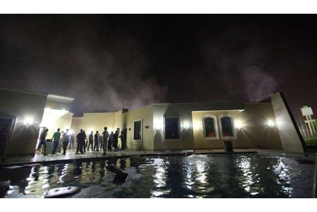 Le consulat américain à Benghazi, après les flammes.