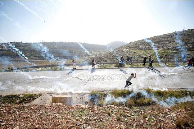 Protestation à Nabi Saleh, le 13 janvier 2018.