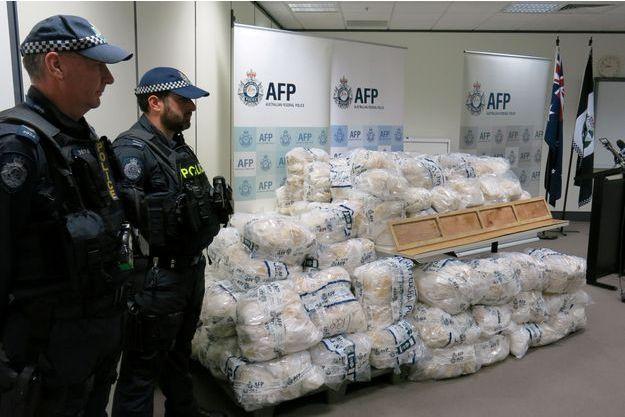 La drogue a été découverte près de Melbourne.