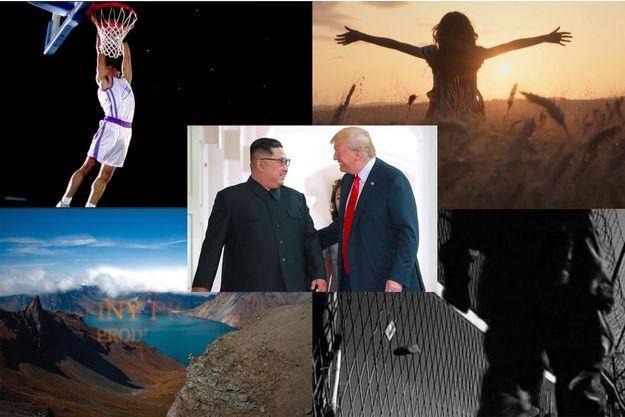 Des captures d'écran de la vidéo montrée par Donald Trump à Kim Jong-un.