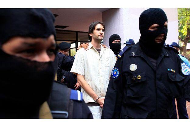 Eric Justin Toth, après sa présentation à la presse au Honduras lundi.