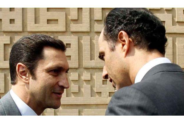 Alaa et Gamal Moubarak, les fils d'Hosni.