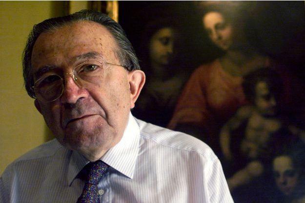 Giulio Andreotti en 1999 dans son bureau de Rome.