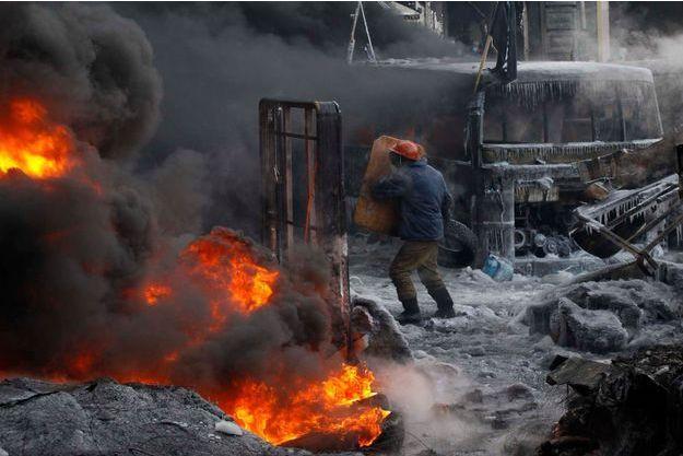 Le 22 janvier 2014. Le centre de Kiev se transforme en champ de bataille.