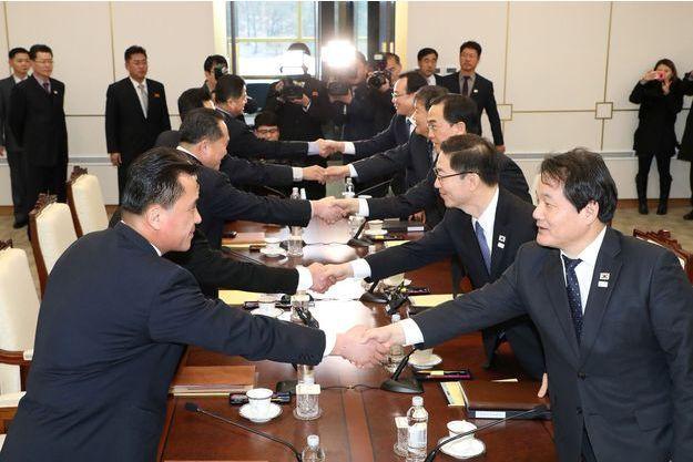 Corée du Nord et Corée du Sud se sont rencontrées afin de discuter.