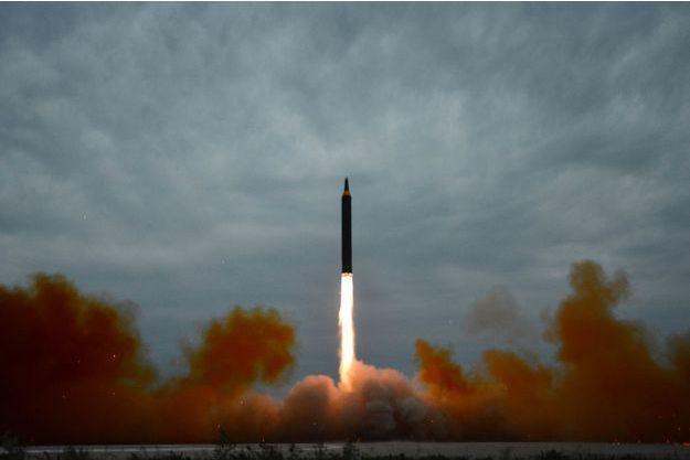 Un missile lancé par la Corée du Nord.