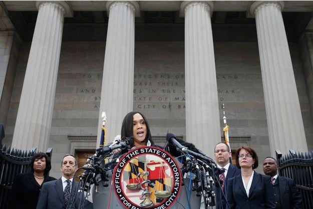 Marilyn Mosby, procureure de Baltimore, parle à la presse vendredi 1er mai.