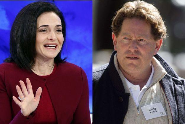 Sheryl Sandberg et Bobby Kotick.