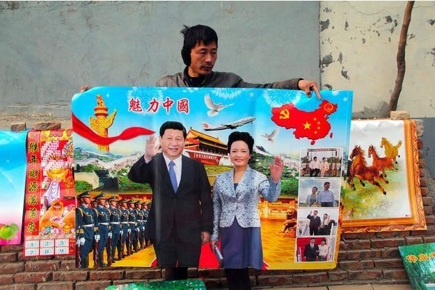 Le président chinois Xi Jinping and et sa femme Peng Liyuan