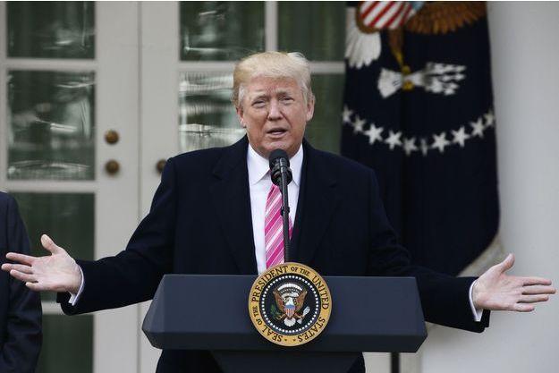 Donald Trump à la Maison Blanche, le 21 novembre 2017.