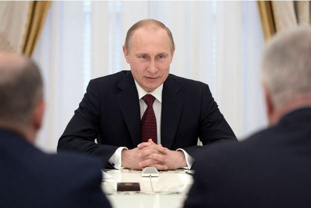 Vladimir Poutine, au Kremlin, à Moscou, le 1er mai.