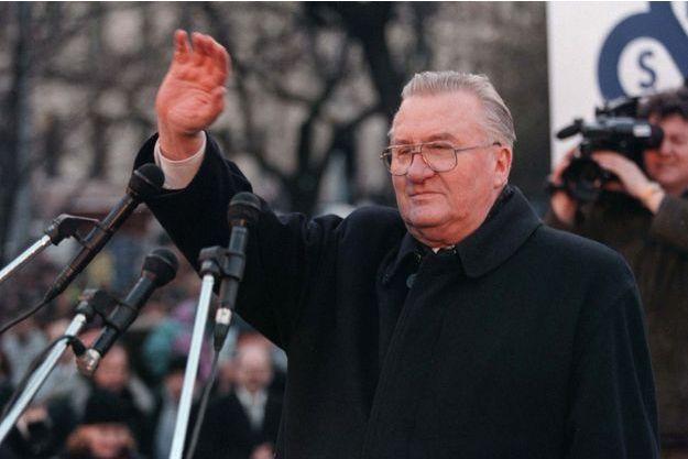 Michal Kovac, l'ancien président slovaque, en 1998.