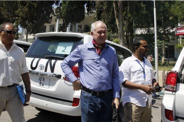 Åke Sellström, chef des inspecteurs envoyés par l'ONU en Syrie.