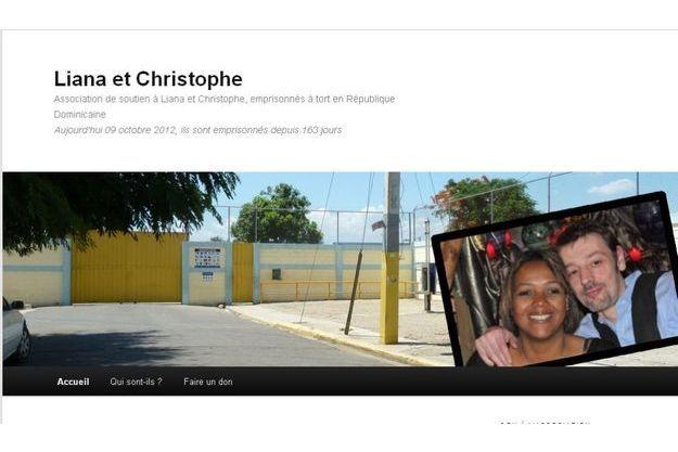 Capture d'écran du site de soutien à Liana et Christophe Guillon.