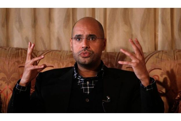 Saïf al-Islam, le 10 mars dernier, lors d'une interview avec Reuters. A l'époque, le fils du dictateur déchu insistait sur la menace que faisait peser l'instabilité en Libye sur l'Europe voisine.