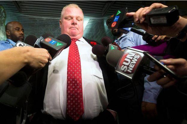 Rob Ford à la mairie de Toronto, le 31 octobre dernier.