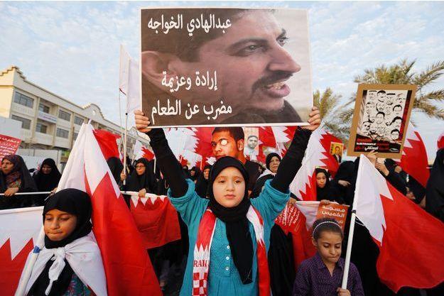 Une manifestation appelant à la libération du militant à Manama en décembre dernier.
