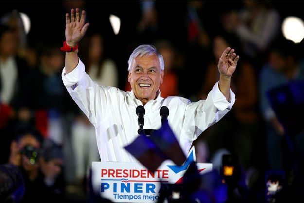 Sebastian Piñera en meeting à Santiago, le 16 novembre 2017.