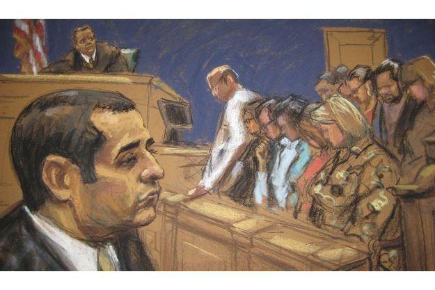 Le policier cannibale lors de son procès.