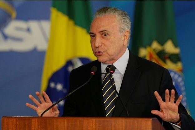 Le président brésilien Michel Temer, le 21 novembre 2017.