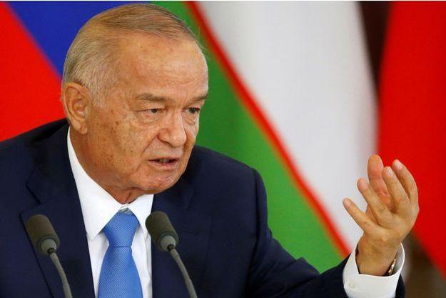 Le président ouzbek Islam Karimov, en avril 2016.
