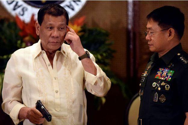 Rodrigo Duterte, le 18 juillet 2017 à Manille.