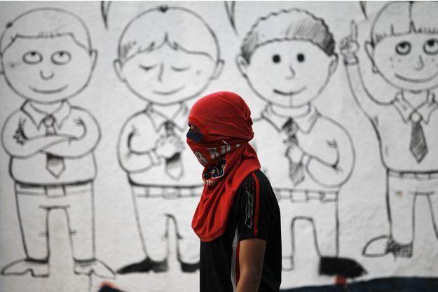 Lors d'une manifestation de soutien à l'opposant chiite Nimar Al Nimar près de Manama, en octobre 2014.