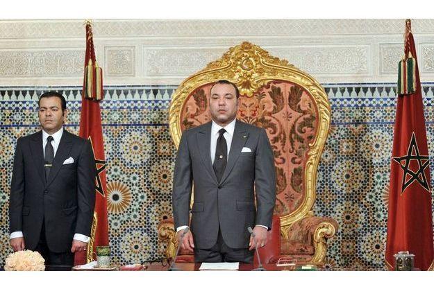 Le roi Mohammed VI, avant son allocution à Rabbat