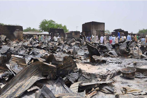 En mai, la ville de Gamboru était déjà en ruines à cause de Boko Haram.