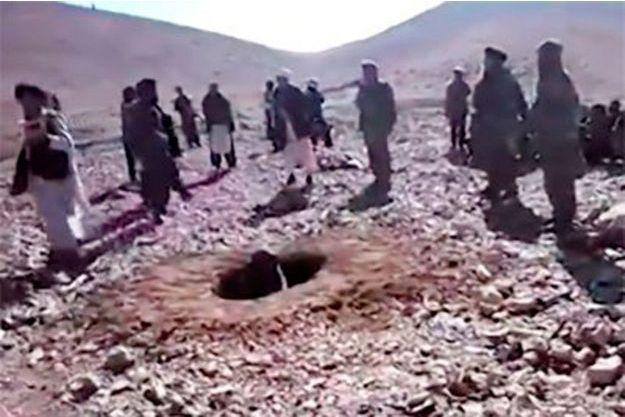 Photo extraite de la vidéo diffusée par les taliban.