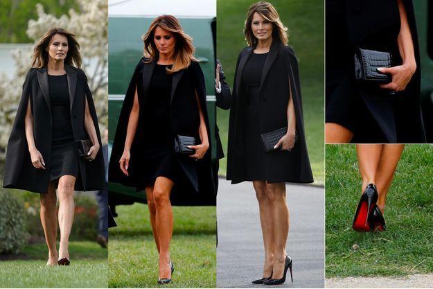 La tenue portée par Melania Trump à Washington, le 23 avril 2018.