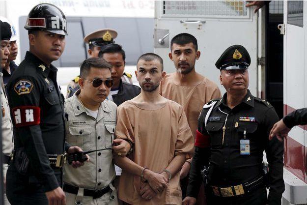 Bilal Mohammed, identifié également sous le nom d'Adem Karadag, arrivant au tribunal.
